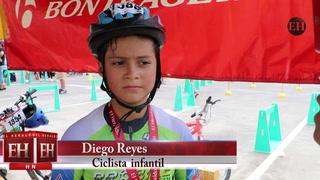 Diego, el campeón ciclístico en la categoría de 7 a 8 años