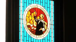 Florida State University dedicates a stained-glass window to honor a longtime music professor