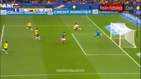 Francia 2-3 Colombia (Amistoso Internacional)