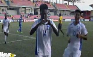 Segundo gol de Honduras 2-0 le gana a Curazao