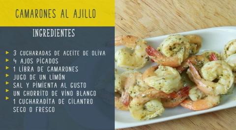 Receta Camarones Al Ajillo