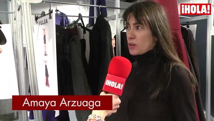 Amaya Arzuaga: \'El movimiento y los materiales adquieren gran protagonismo en la colección\'