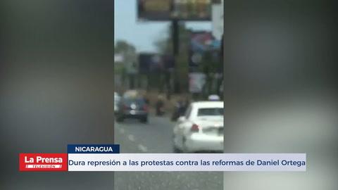 Dura represión a las protestas contra las reformas de Daniel Ortega