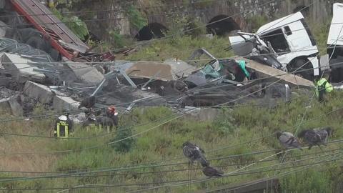Más de 20 muertos por derrumbe de puente en autopista italiana