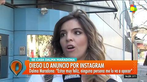 Dalma Maradona y cómo fue la emocionante reacción de Diego al saber que se casa