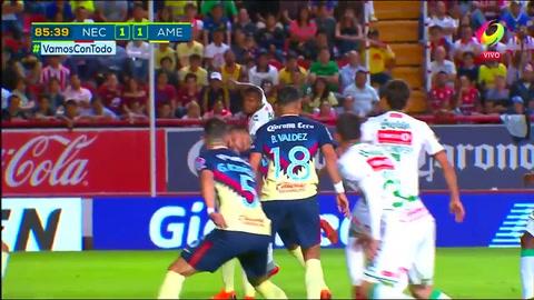 Brayan Beckles anotó el empate de Necaxa ante América por Liga MX