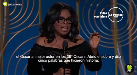 El encendido y poderoso discurso de Oprah Winfrey en los Globos de Oro