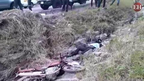 Hombre fallece en accidente de motocicleta en la cuesta de El Chile
