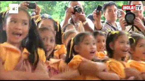 Emocionante acogida a la reina Sofía en Filipinas