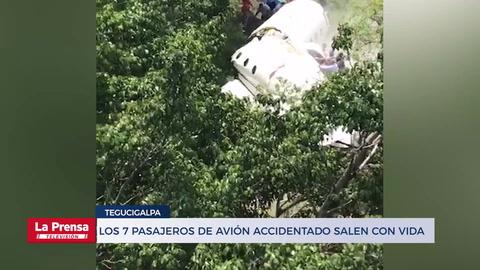 Honduras: Con vida 7 pasajeros de avión accidentado en Tegucigalpa