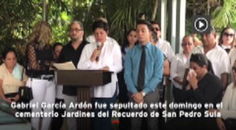 Honduras: Sepultan en San Pedro Sula al periodista Gabriel García Ardón