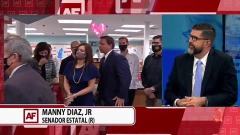 El Senador estatal Many Díaz Jr, hable sobre el altercado entre el alcalde de Hialeah y el gobernador Ron Desantis