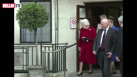 The Queen leaves the hospital after overnight stay