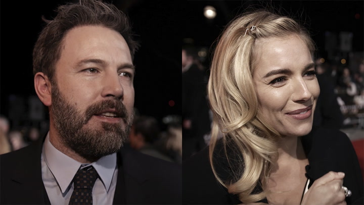 Ben Affleck and Sienna Miller at the London premiere of Live By Night