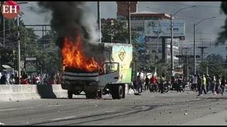 Incendian camión repartidor de lácteos en San Pedro Sula