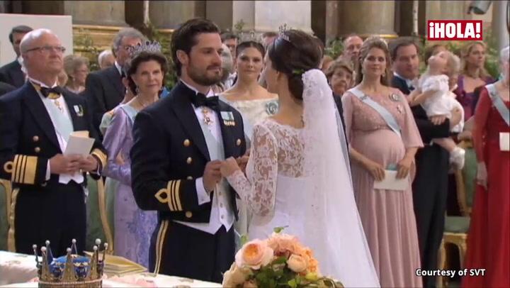Robados, de ensueño y de película, así fueron los besos más románticos de la boda Carlos Felipe y Sofia de Suecia