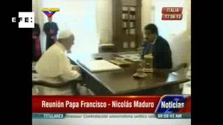 Maduro califica de 'exitosa' la reunión con el Papa