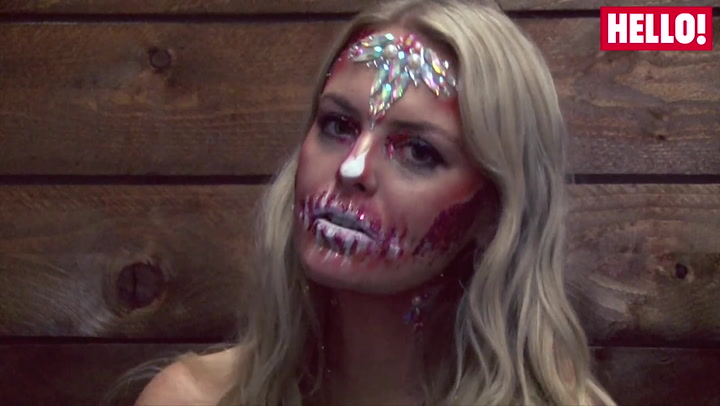 HELLO! Beauty Influencer Alex Light gets a glittery halloween makeover courtesy of Go Get Glitter