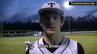 Brown's Two-hit night in Trigg Win