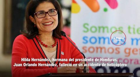 Muere Hilda Hernández, hermana del presidente de Honduras