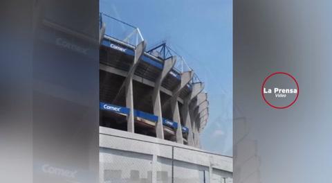 El estadio Azteca se partió en dos tras el terremoto