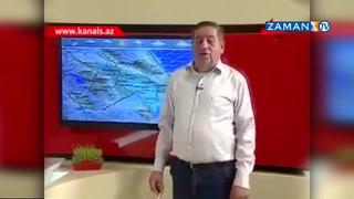 Azeri spikerden hava durumu: Siz yine de inanmayın, yer onun gök onun Allah özü bilir