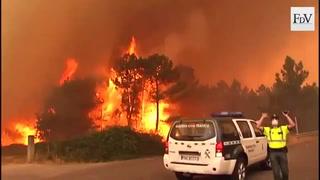 Peligro: Incendio de grandes proporciones en Portugal