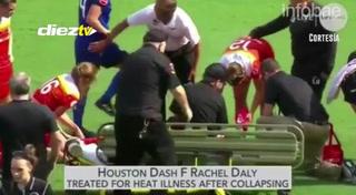 Una futbolista se desplomó en pleno partido tras sufrir un golpe de calor: