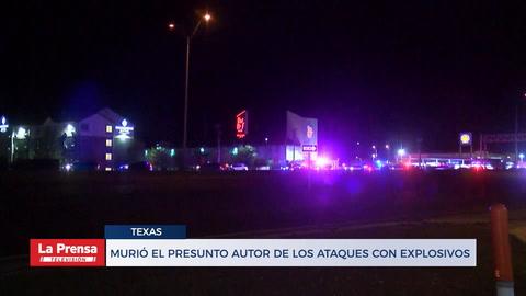 Murió el presunto autor de los ataques con explosivos en Texas