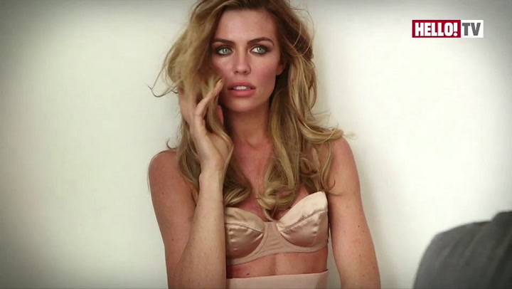 Abbey Clancy speaks to HELLO! on the set of her latest photo shoot
