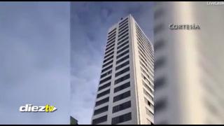 Salto suicida de un joven sueco: 24 pisos y su paracaídas le falla