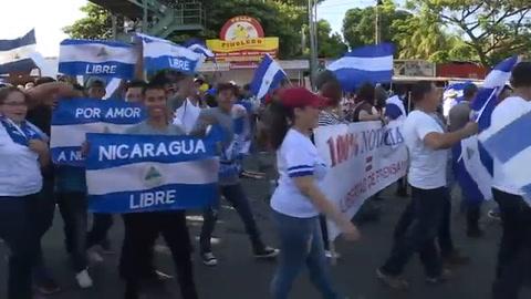 Multitudinaria marcha aumenta presión en Nicaragua