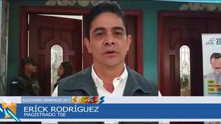 Erick Rodríguez explica cómo avanza el proceso previo a elecciones
