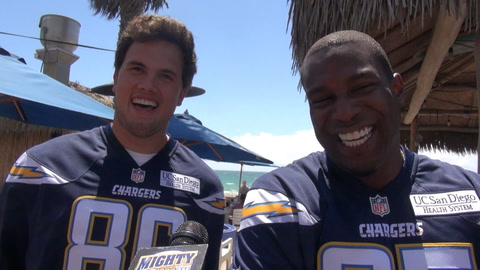 Antonio Gates & Hunter Henry on 1st impressions, Rivers & SD Super Charger song