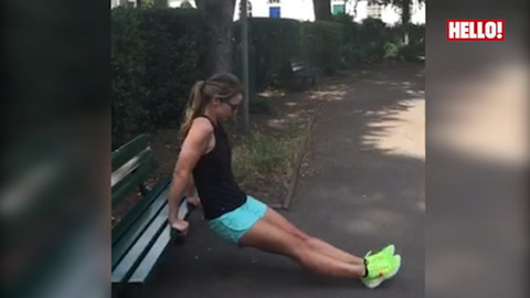 Vogue Williams\'s latest workout