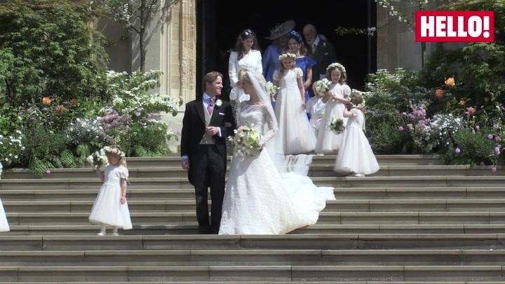 Lady Gabriella and Groom Leave Chapel
