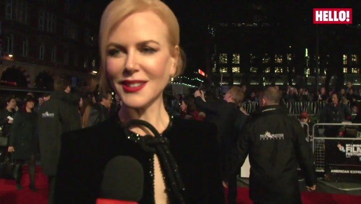 Nicole Kidman talks about her daughters joining her on set and going crazy in London at the LFF Lion gala premiere