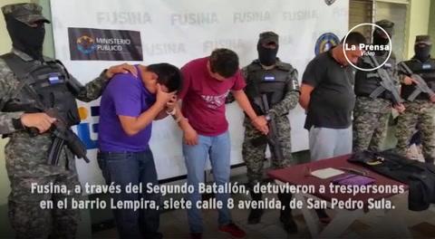 Detienen a tres personas que intentaron asaltar a un guardia