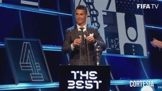 Cristiano Ronaldo se quedó con el premio The Best 2017