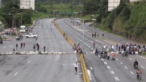 Comenzó paro general en Venezuela convocado por la oposición