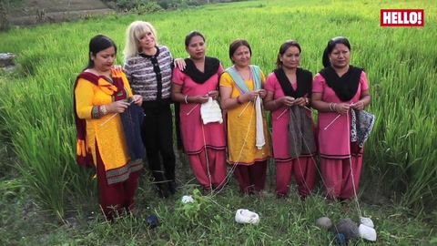 Jo Wood visits People Tree\'s talented hand-knitters in Nepal