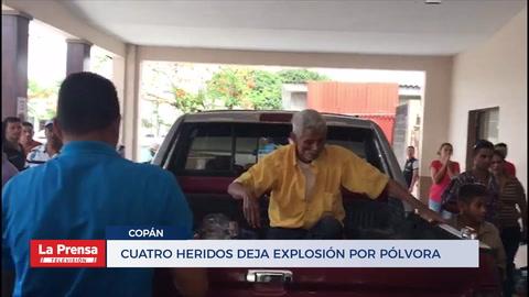 Copán: Cuatro heridos deja explosión por pólvora dentro de vivienda