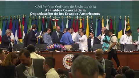 Asamblea General de la OEA concluye sin decisión sobre Venezuela