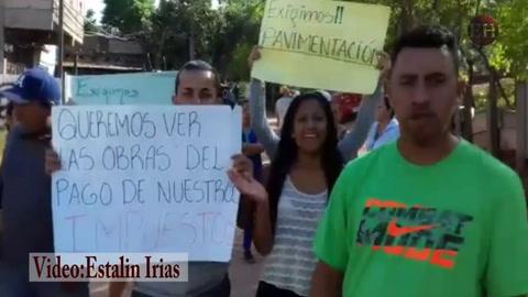 Así protestan vecinos del sector 6 de la Villa Nueva en la capital, exigiendo seguridad en su colonia