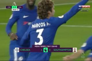 Con golazo de Marcos Alonso, Chelsea vence a Southampton