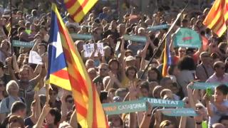 Cataluña: Unas 450.000 personas exigen declarar su independencia