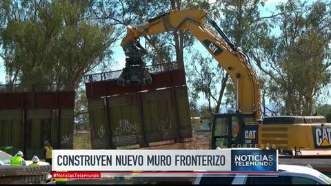 Construyen versión más alta del muro en frontera con México