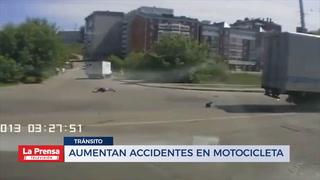 Aumentan accidentes en motocicleta