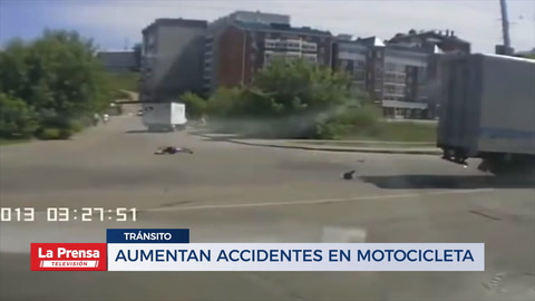 Aumentan accidentes en motocicleta