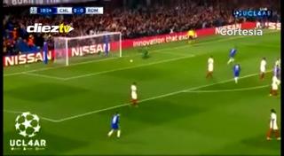 El golazo de David Luiz a la Roma en Champions